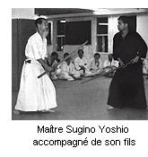 Sugino Yoshio, accompagn� de son fils